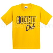 8/Eight Club Screen Printed T-Shirt, Gold/Royal