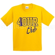 4/Four Club Screen Printed T-Shirt, Gold/Royal