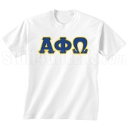 Alpha Phi Omega Screen Printed T-Shirt, White