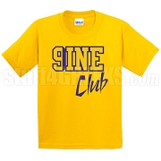 9/Nine Club Screen Printed T-Shirt, Gold/Royal