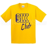 6/Six Club Screen Printed T-Shirt, Gold/Royal