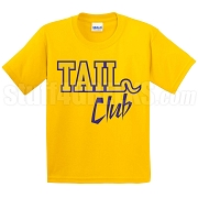 Tail Club Screen Printed T-Shirt, Gold/Royal