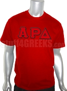 Alpha Rho Delta Greek Letter Screen Printed T-Shirt, Red