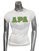 Alpha Rho Lambda Screen Printed T-Shirt with Triple Greek Letters, White