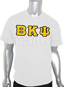 Beta Kappa Psi Greek Letter Screen Printed T-Shirt, White