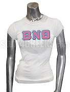 Beta Nu Theta Greek Letter Screen Printed T-Shirt, White