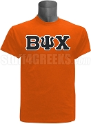 Beta Psi Chi Greek Letter Screen Printed T-Shirt, Orange
