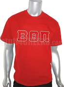 Beta Theta Pi Screen Printed T-Shirt with Greek Letters, Red