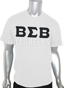 Buffalo Soldier Greek Letter Screen Printed T-Shirt, White