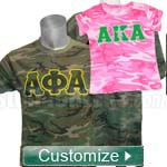 Custom Embroidered Camouflage T-Shirt