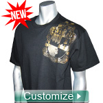 NEW! Metallic Foil T-Shirt with Your Fraternity or Sorority Crest