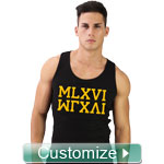 Personalized Embroidered Men's Tank Top