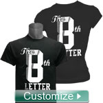 Personalized T-Shirt with DTG Printed Metallic Foil