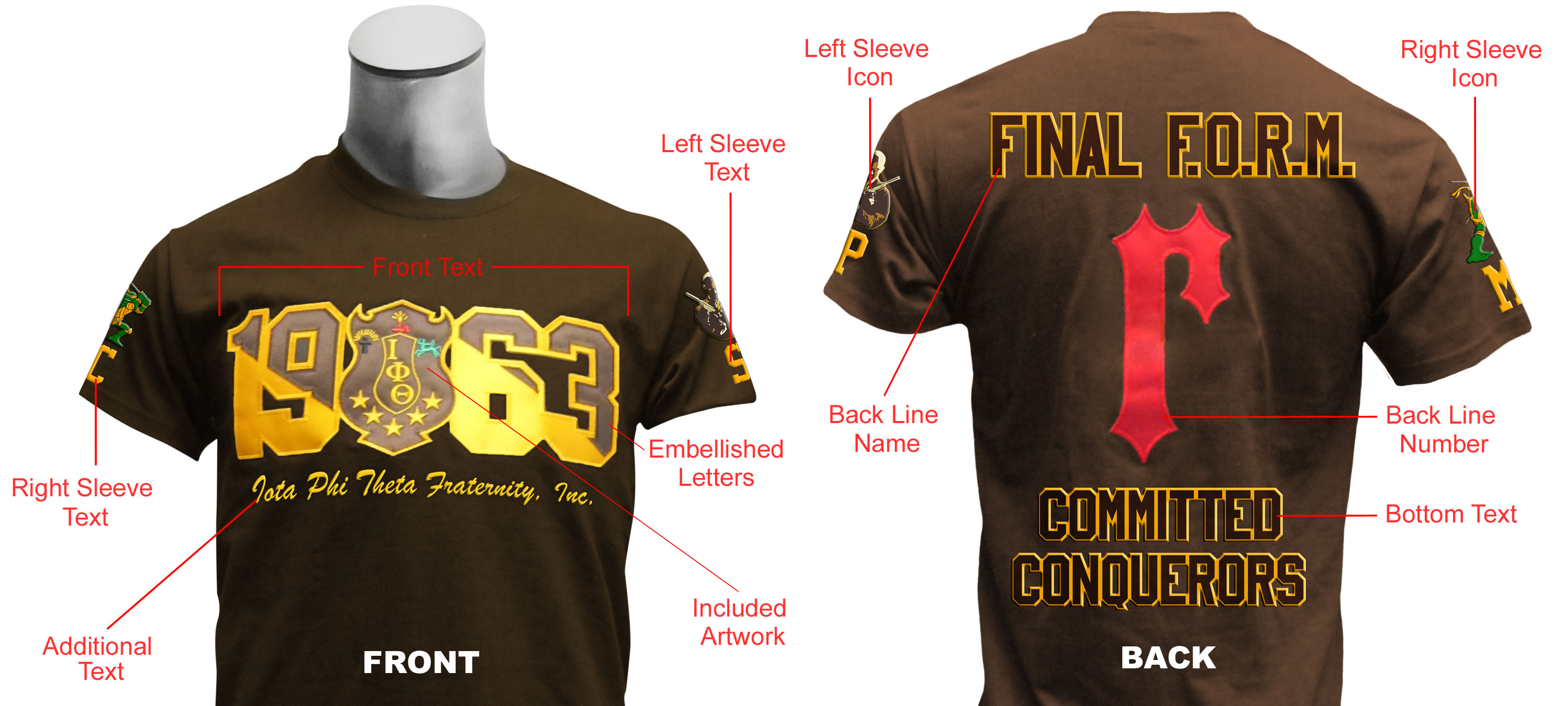 744f2e5de8f Upgrade your custom t-shirt! The Ultimate Custom Pledge T-Shirt includes  your Greek letters on the front