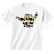 Alpha Phi Alpha Hand Sign Screen Printed T-Shirt, White - Designs by Krunkite