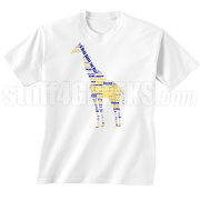 Epsilon Sigma Alpha Giraffe Screen Printed T-Shirt, White - Designs by Krunkite
