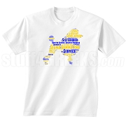 Sigma Gamma Rho Poodle DTG Printed T-Shirt, White - Designs by Krunkite