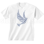 Zeta Phi Beta Dove Screen Printed T-Shirt, White - Designs by Krunkite
