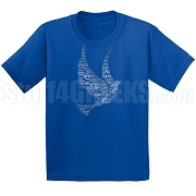 Zeta Phi Beta Dove on Royal Blue Screen Printed T-Shirt - Designs by Krunkite