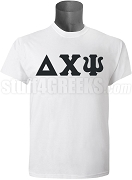 Delta Chi Psi Greek Letter Screen Printed T-Shirt, White