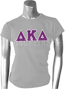 Delta Kappa Delta Greek Letter Screen Printed T-Shirt, Heather Gray