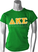 Delta Kappa Sigma Greek Letter Screen Printed T-Shirt, Green