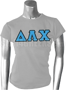 Delta Lambda Chi Greek Letter Screen Printed T-Shirt, Gray
