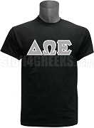 Delta Omega Epsilon Greek Letter Screen Printed T-Shirt, Black