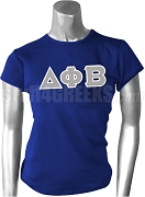 Delta Phi Beta Greek Letter Screen Printed T-Shirt, Royal Blue