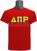 Delta Pi Rho Greek Letter Screen Printed T-Shirt, Red