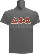 Delta Psi Alpha Men's Greek Letter Screen Printed T-Shirt, Gray