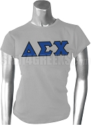 Delta Sigma Chi Greek Letter Screen Printed T-Shirt, Gray