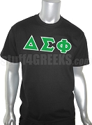 Delta Sigma Phi Greek Letter Screen Printed T-Shirt, Black