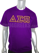 Delta Sigma Pi Men's Greek Letter Screen Printed T-Shirt, Purple