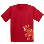Elephant Mascot Screen Printed T-Shirt, Red