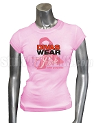 Divas Wear Pink With Purpose Breast Cancer Awareness Screen Printed T-Shirt, Pink