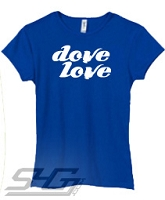 Dove Love #2, Royal Screen Printed T-Shirt