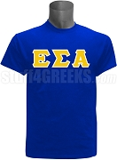 Epsilon Sigma Alpha Greek Letter Screen Printed T-Shirt, Royal Blue