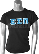 Epsilon Sigma Pi Greek Letter Screen Printed T-Shirt, Black