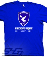 Phi Beta Sigma Ferrari-Style Logo, Royal Blue Screen Printed T-Shirt