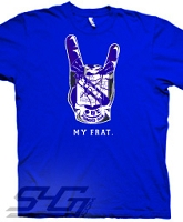 Phi Beta Sigma Hand Crest, Royal Blue Screen Printed T-Shirt