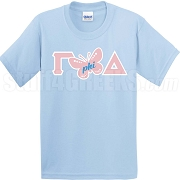 Gamma Butterfly Phi Delta, Light Blue Screen Printed T-Shirt