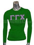 Gamma Gamma Chi Greek Letter Screen Printed T-Shirt, Forest Green