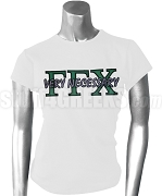 Gamma Gamma Chi Greek Letter Screen Printed T-Shirt with Very Necessary Thru, White