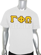 Gamma Phi Omega Fraternity Greek Letter Screen Printed T-Shirt, White