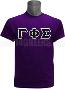 Gamma Phi Sigma Greek Letter Screen Printed T-Shirt, Purple