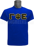 Gamma Psi Epsilon Greek Letter Screen Printed T-Shirt, Royal Blue