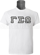 Gamma Sigma Omega Greek Letter Screen Printed T-Shirt, White