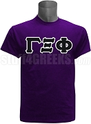 Gamma Xi Phi Men's Greek Letter Screen Printed T-Shirt, Purple