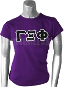 Gamma Xi Phi Ladies Greek Letter Screen Printed T-Shirt, Purple